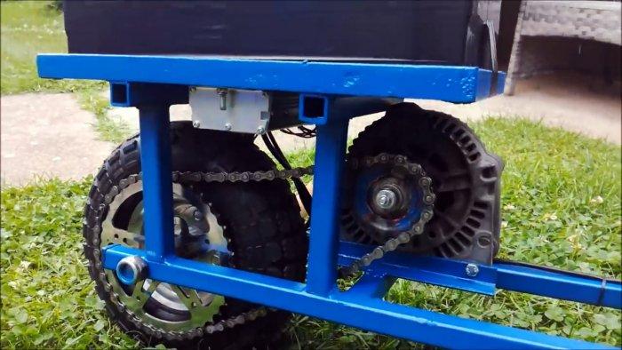 Как сделать электросамокат на приводе от автом обильного генератора