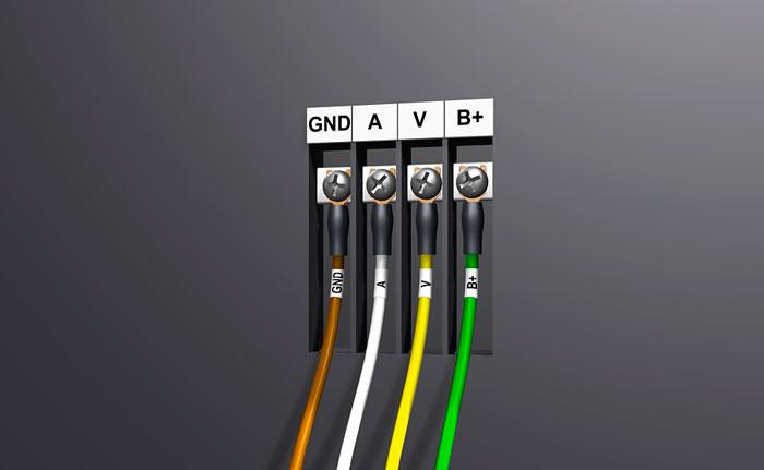 подключение проводов на монитора видеодомофона