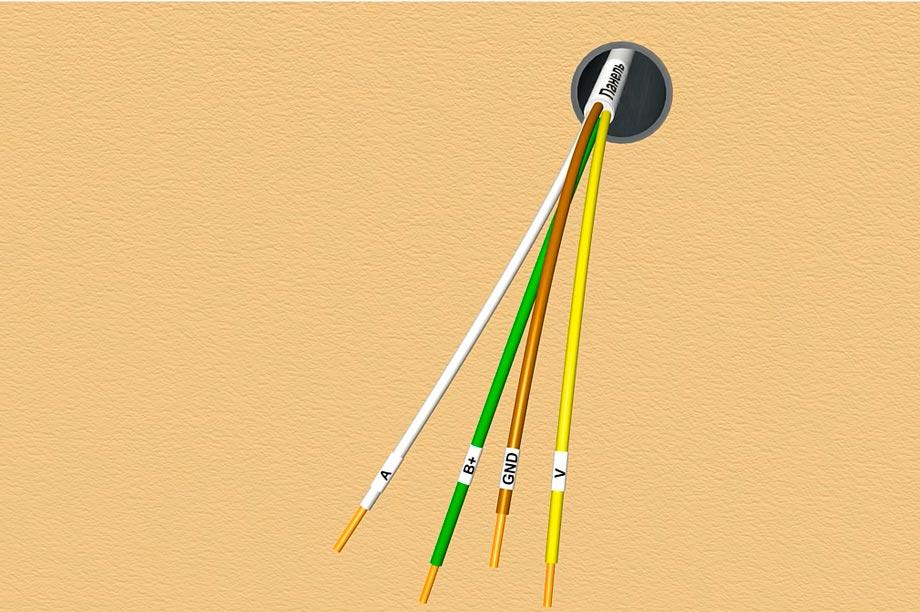 маркировка кабеля для подключения домофона