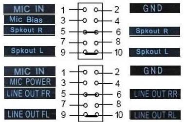Подключение отдельных коннекторов передней панели