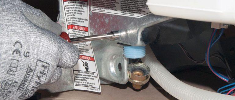 Замена клапана подачи воды посудомоечной машины